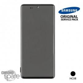 Ecran LCD + Vitre Tactile + châssis noir Samsung Galaxy A71 A715F (officiel)
