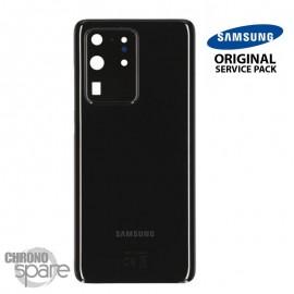 Vitre arrière + vitre caméra noir Samsung Galaxy S20 Ultra (Officiel)