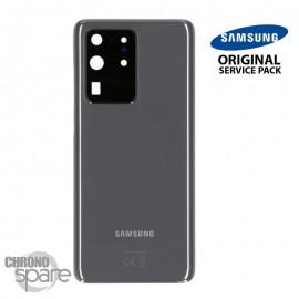 Vitre arrière + vitre caméra gris Samsung Galaxy S20 Ultra (Officiel)