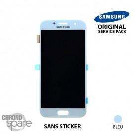Bloc LCD + Vitre tactile Samsung A5 2017 A520F (officiel) GH97-19733C Bleu