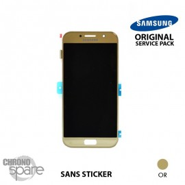 Bloc LCD + Vitre tactile Samsung A3 2017 A320F (officiel) GH97-19732B Or