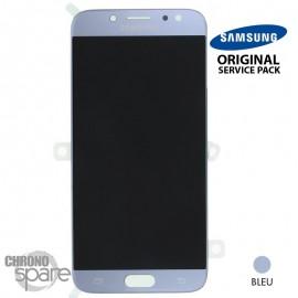 Ecran LCD + Vitre Tactile Argent/Bleu Samsung Galaxy J7 2017 J730F