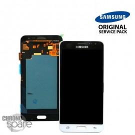 Ecran LCD + Vitre tactile blanche Samsung J3 2016 A320F (officiel) GH97-18414A
