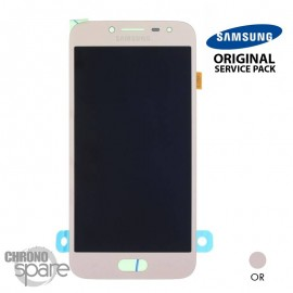 Ecran LCD + Vitre Tactile Or Samsung J2 Pro 2018 J250 (officiel)