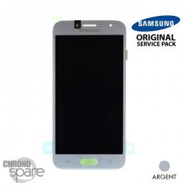 Ecran LCD + Vitre Tactile Argent Samsung J2 Pro 2018 J250 (officiel)