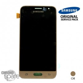 Ecran LCD + Vitre Tactile Or Samsung J1 2016 J120F (officiel) GH97-18224B