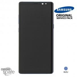 Vitre tactile et écran LCD Samsung Galaxy Note 8 SM-N950F (officiel) Bleu
