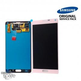 Vitre tactile et écran LCD Samsung Galaxy Note 4 N910F Or Rose GH97-16565D (officiel)