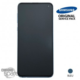 Ecran LCD + Vitre Tactile + châssis Vert Samsung Galaxy S10 E G970F (officiel)