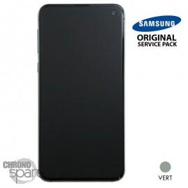Ecran LCD + Vitre Tactile + châssis Blanc Samsung Galaxy S10 E G970F (officiel)