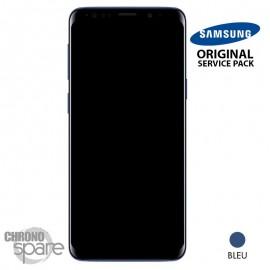 Ecran LCD + Vitre Tactile + châssis bleu Samsung Galaxy S9 Plus G965F (officiel)