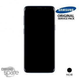 Ecran LCD + Vitre Tactile + châssis noir Samsung Galaxy S9 Plus G965F (officiel)