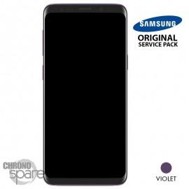 Ecran LCD + Vitre Tactile + châssis violet Samsung Galaxy S9 G960F (officiel)