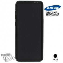 Ecran LCD + Vitre Tactile noir Samsung Galaxy S8 G955F (officiel) GH97-20470A