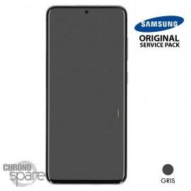Ecran LCD + Vitre Tactile + châssis gris Samsung Galaxy S20 (officiel)