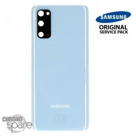 Vitre arrière + vitre caméra bleu Samsung Galaxy S20 (Officiel)