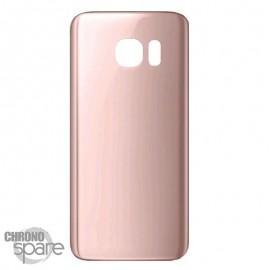 Vitre arrière Samsung S7 G930F Or rose