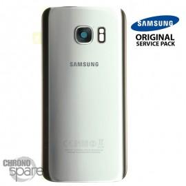 Vitre arrière + vitre caméra Argent (officiel) Samsung Galaxy S7 G930F