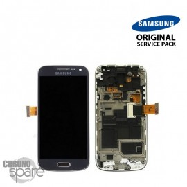 Vitre tactile + écran LCD + châssis Galaxy S4 Mini i9195 gris/noir (officiel) GH97-14766A