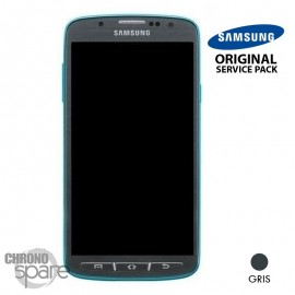 Ecran LCD + Vitre Tactile + Châssis Samsung Galaxy S4 Active I9295 Gris (Officiel)