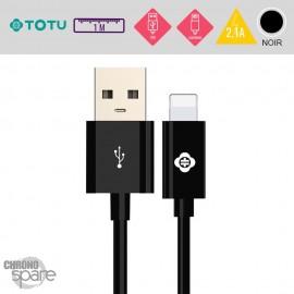 Câble USB vers Lightning 10W-2,1A noir 1M TOTU
