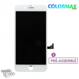 Ecran LCD + vitre tactile iphone 8 plus blanc (colormax)