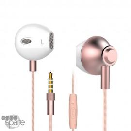 Écouteurs Langsdom M420 avec micro - Or rose