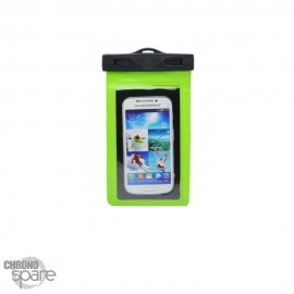 Pochette étanche verte pour smartphone 5.8 pouce