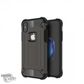 Coque renforcée bi-matière Iphone X - Gris