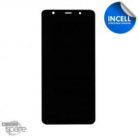 Ecran LCD + Vitre tactile noir Samsung Galaxy A7 2018 A750 (INCELL)