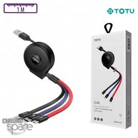 Câble Charge 3 en 1TOTU
