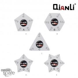 (Lot de 5) Outil Ouverture vitre arrière iPhone Qianli ABCDE