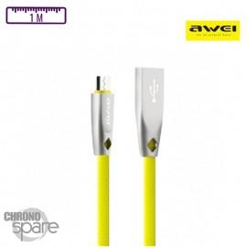 Câble Soft-touch Micro USB - Jaune