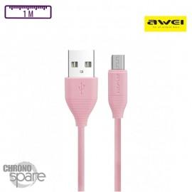 Câble Soft-touch Lightning - Rose