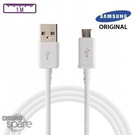Câble samsung original 1m micro usb - Blanc