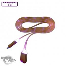 Câble lumineux 1 mètre - Micro USB - Orange