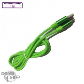 Câble Peps soft touch Micro USB - Vert