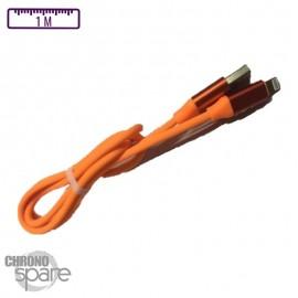 Câble Peps soft touch Micro USB - Orange