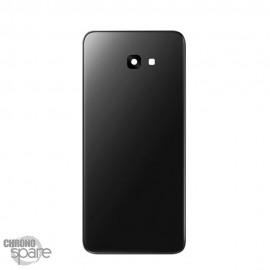 Vitre arrière noire + lentille caméra Samsung Galaxy J4 Plus 2018