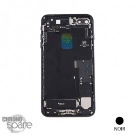 Châssis arrière iPhone 7 Plus Noir de jais - avec nappes