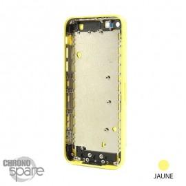 Coque arrière sans nappe, avec support carte SIM, iPhone 5C Jaune