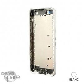 Coque arrière sans nappe, avec support carte SIM, iPhone 5C Blanc