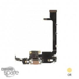 Nappe connecteur de charge iphone 11 pro max or