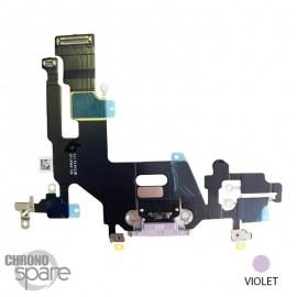 Nappe connecteur de charge iPhone 11 Violet
