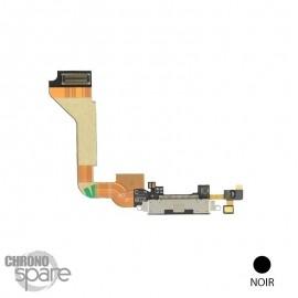 Nappe connecteur de charge dock USB noir iPhone 4