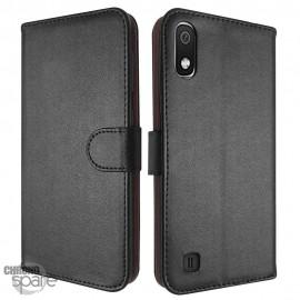 Etui simili-cuir Noir PU à rabat latéral Samsung Galaxy A40 A405F