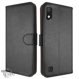 Etui simili-cuir Noir PU à rabat latéral Samsung Galaxy A50 A505F