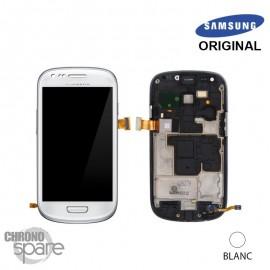 Vitre tactile et écran LCD Galaxy S3 Mini blanc