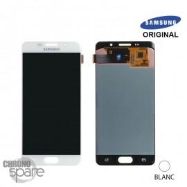 Ecran LCD + Vitre tactile blanche Samsung A5 2016 A510F (officiel) GH97-18250A