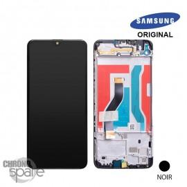 Ecran LCD + Vitre Tactile + châssis noir Samsung Galaxy A10S A107F (officiel)